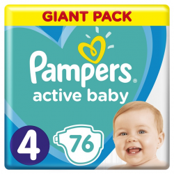 Pampers ActiveBaby Giant pack 4 Maxi 76 (8-14kg)