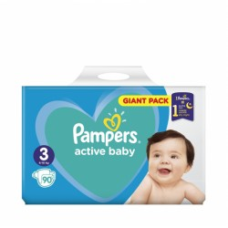 Pampers ActiveBaby Giant pack 3 Midi 90 (5-9kg)